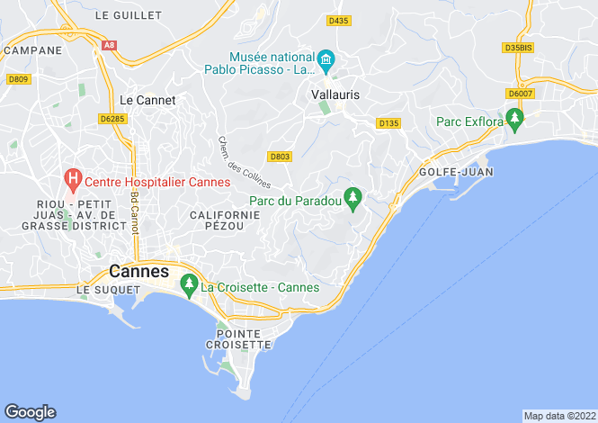 Map for Super Cannes, French Riviera