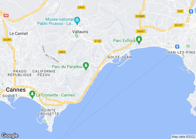 Map for Juan-Les-Pins, Provence-Alpes-Cote dAzur, France