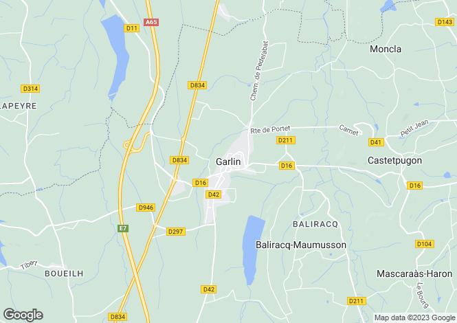 Map for Garlin, Midi-Pyrenees, 64330, France