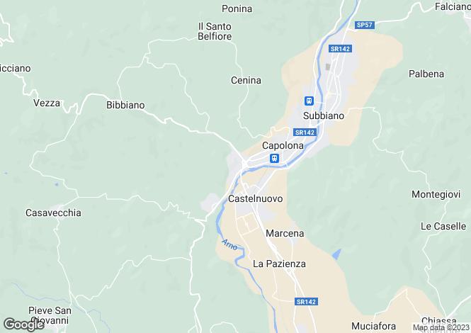 Map for Tuscany, Arezzo, Capolona