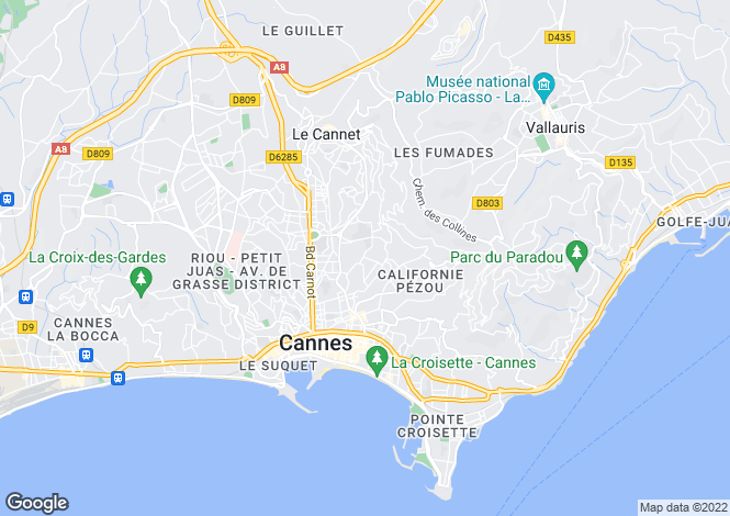 Map for Cannes, Alpes-Maritimes, 06400, France