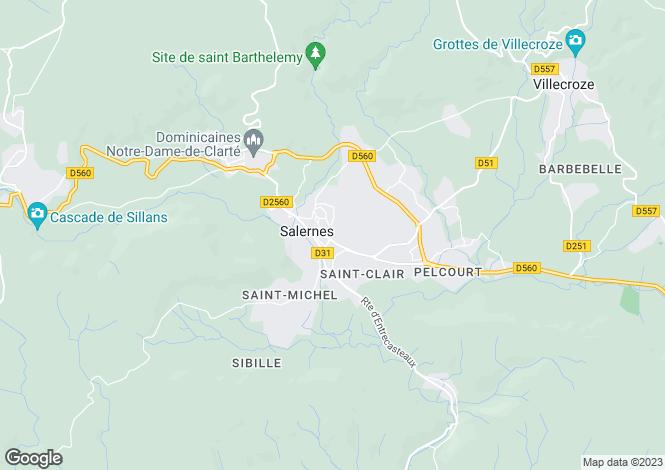 Map for Salernes, Haut Var