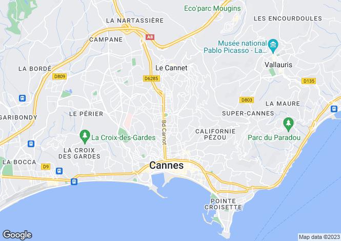 Map for Le Cannet, Provence-Alpes-Cote dAzur, France