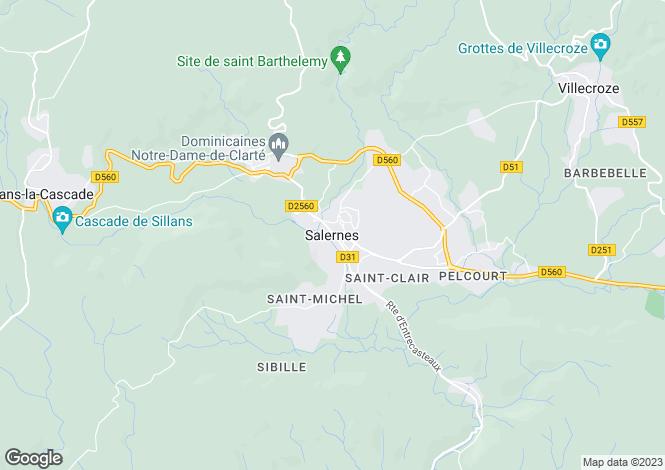 Map for Provence-Alps-Cote d`Azur, Var, Salernes