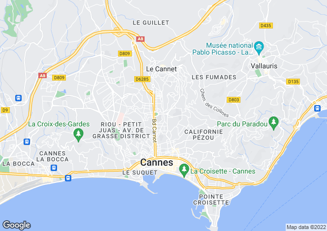 Map for Le Cannet, France