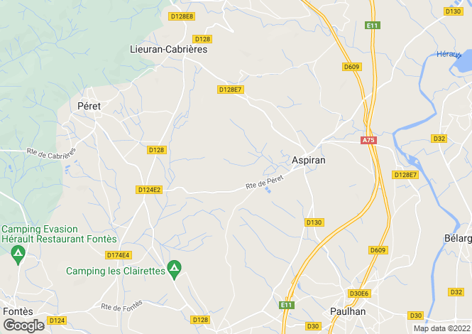 Map for Aspiran, Hérault, Languedoc-Roussillon