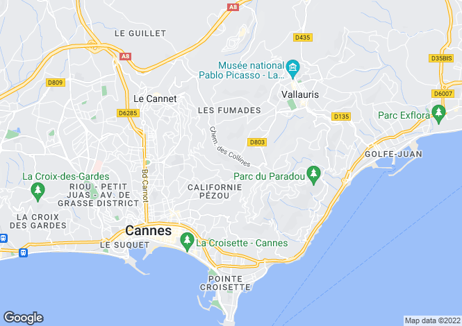 Map for Vallauris, Provence-Alpes-Cote dAzur, France