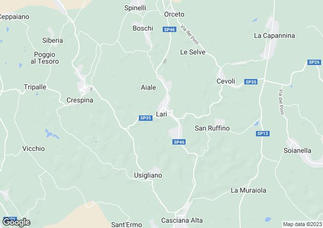 Map for Tuscany, Pisa, Lari
