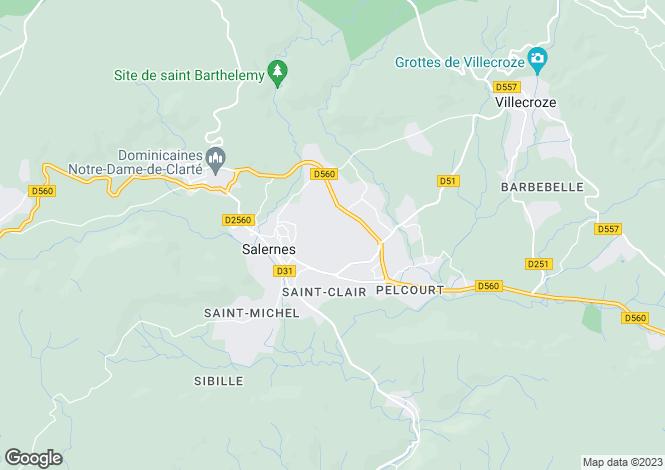 Map for Salernes, 83690, France