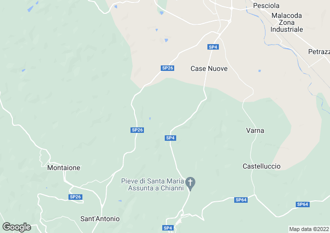 Map for Gambassi Terme, Firenze, Italy