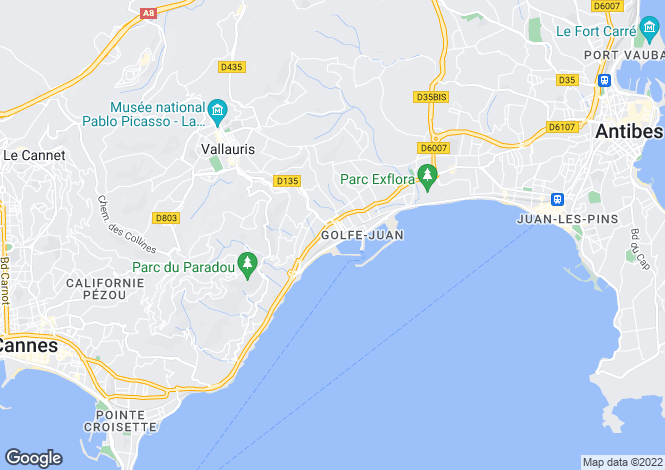Map for Antibes, France