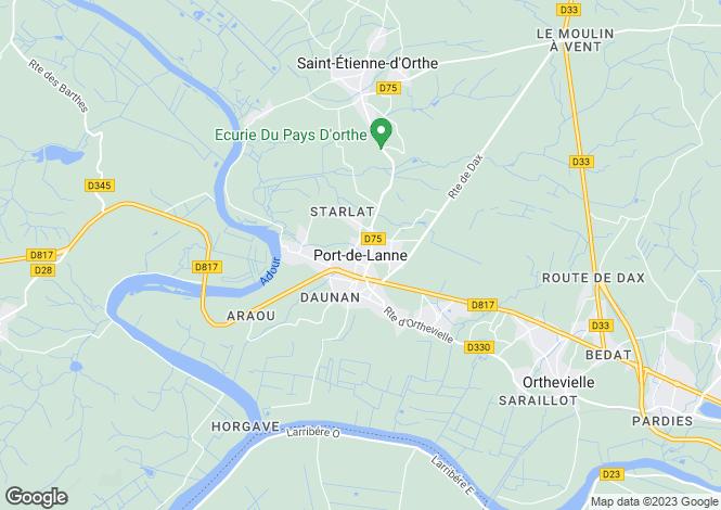 Map for Proche/Near Port de Lanne, Landes