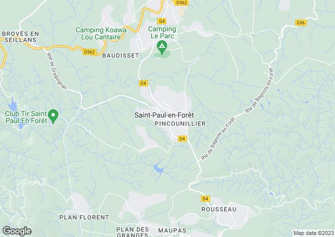 Map for Saint-Paul-En-Foret, Var, 83440, France