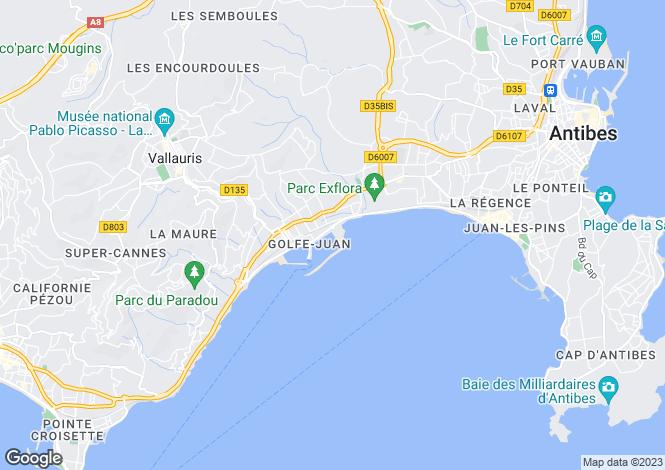 Map for Golfe-Juan, Alpes-Maritimes, France