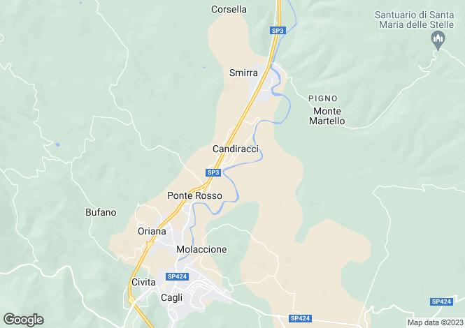 Map for Cagli, Pesaro e Urbino, Le Marche