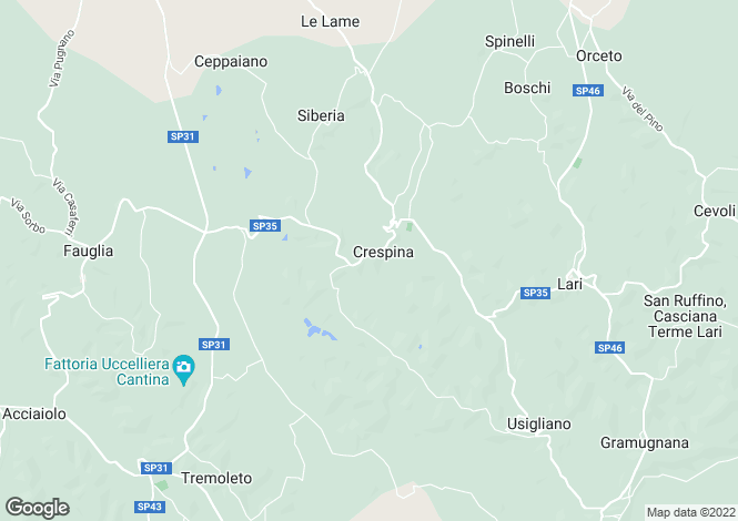 Map for Tuscany, Pisa, Crespina