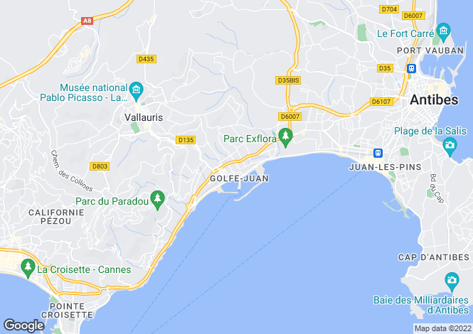 Map for Golfe-Juan, Alpes-Maritimes, 06220, France