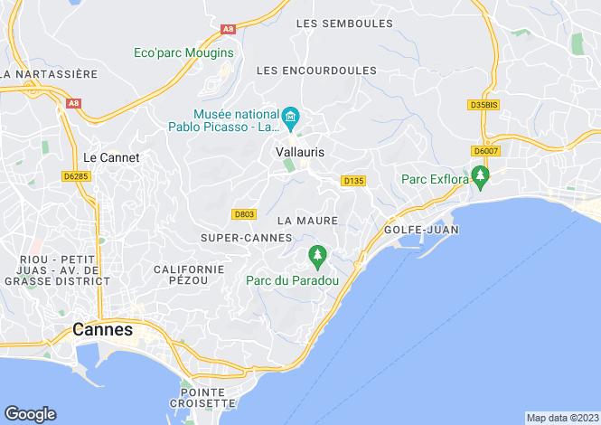 Map for Provence-Alps-Cote d`Azur, Alpes-Maritimes, Cannes
