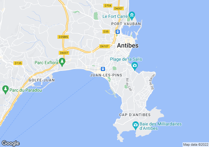 Map for Juan-Les-Pins, Alpes-Maritimes, 06160, France
