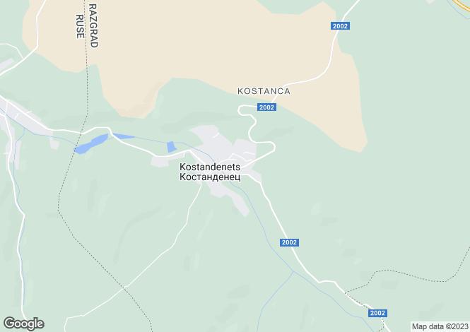 Map for Razgrad, Kostandenets