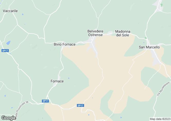 Map for Le Marche, Ancona, Belvedere Ostrense