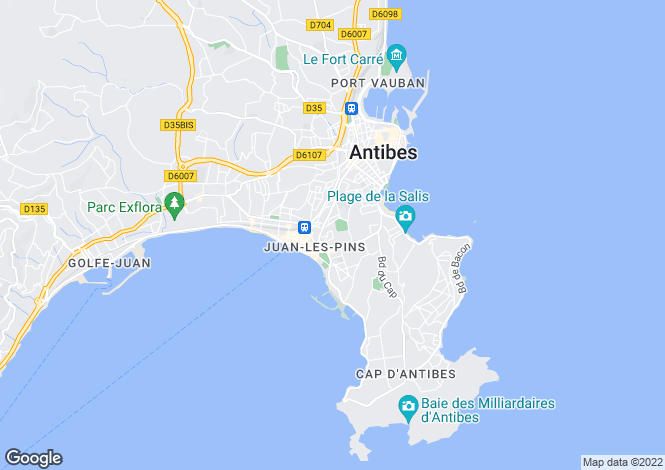 Map for Juan-Les-Pins, Alpes-Maritimes, 06160, France