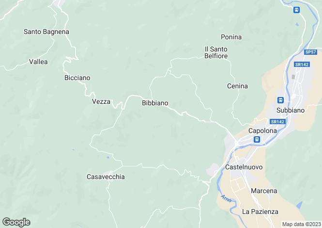 Map for Castelfranco Farmhouse, Arezzo, Italy