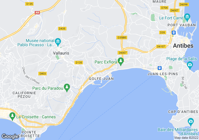 Map for Antheor, Var Coast