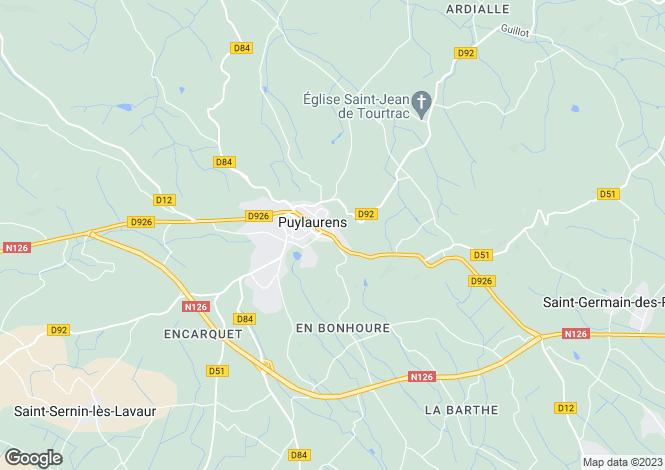 Map for puylaurens, Tarn, France