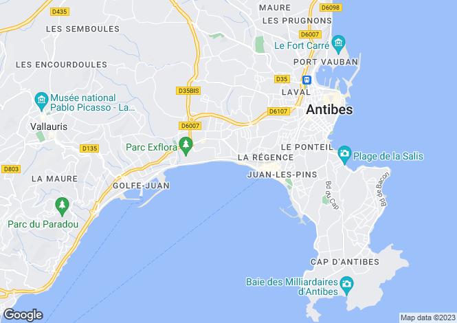 Map for Juan-les-Pins, Alpes-Maritimes, Provence-Alps-Cote d`Azur
