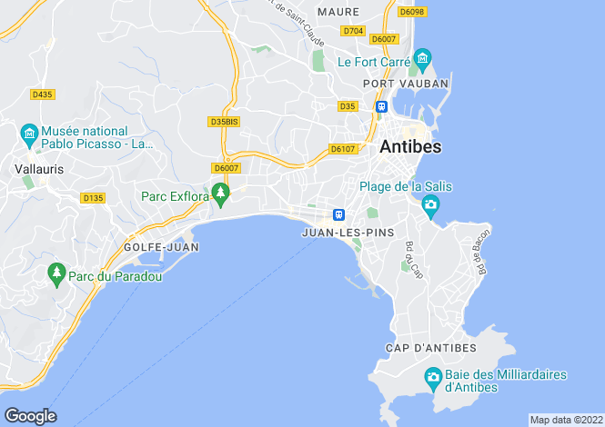 Map for Cap D'Antibes, French Riviera
