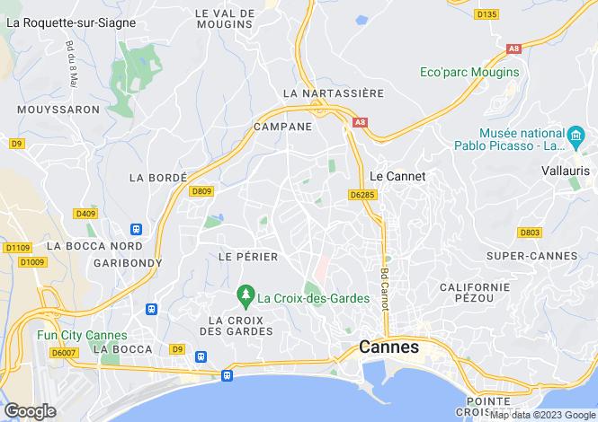 Map for Mougins Pibonson, France