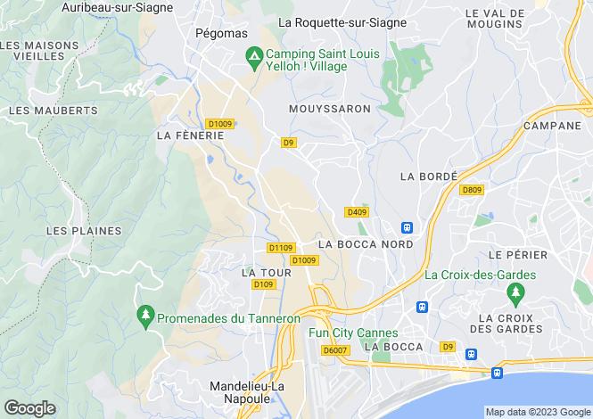 Map for Tanneron, Provence-Alpes-Cote dAzur, France