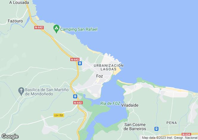 Map for Galicia, Lugo, Foz
