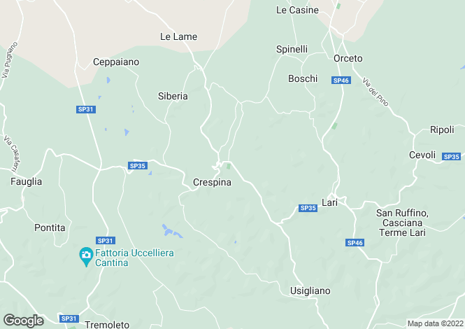 Map for Crespina, Pisa, Italy