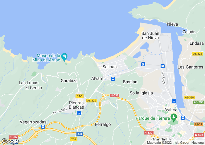 Map for Salinas, Asturias, Spain
