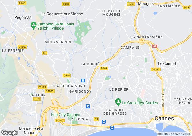 Map for Pegomas, France
