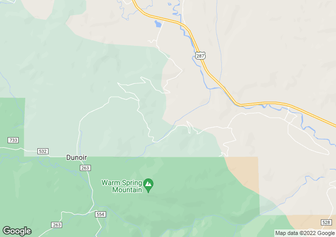 Map for Wyoming, Fremont County, Dubois