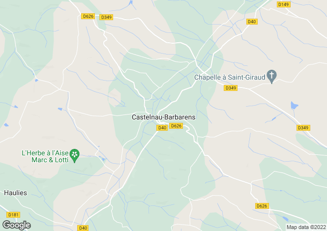 Map for Castelnau-Barbarens, Midi-Pyrenees, 32450, France