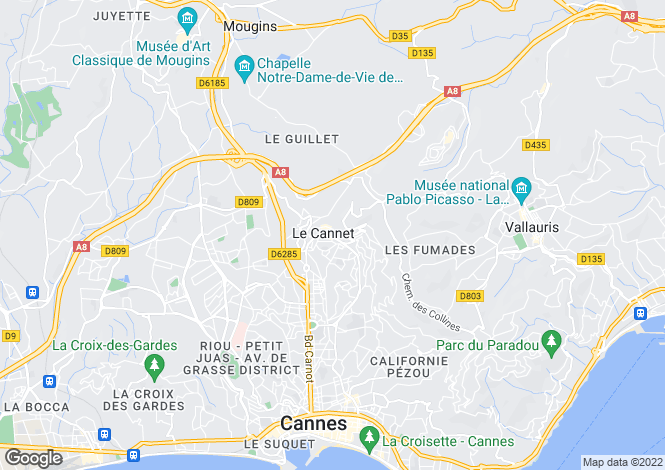 Map for Le Cannet, Cannes, French Riviera