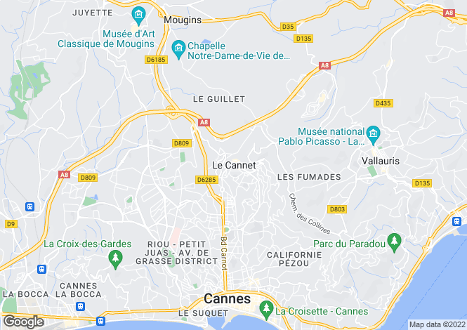 Map for Apartment Is Small Residence, Le Cannet, Alpes Maritimes