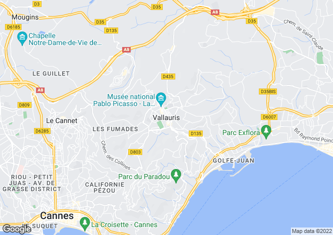 Map for Vallauris, Alpes-Maritimes, 06220, France
