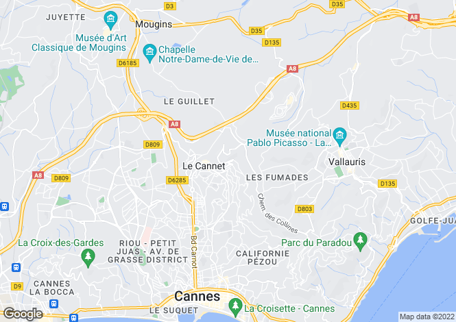 Map for Le Cannet, 06110, France