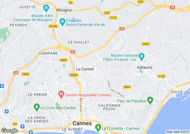 Map for LE CANNET,Provence-Alpes-Côte d'Azur, France