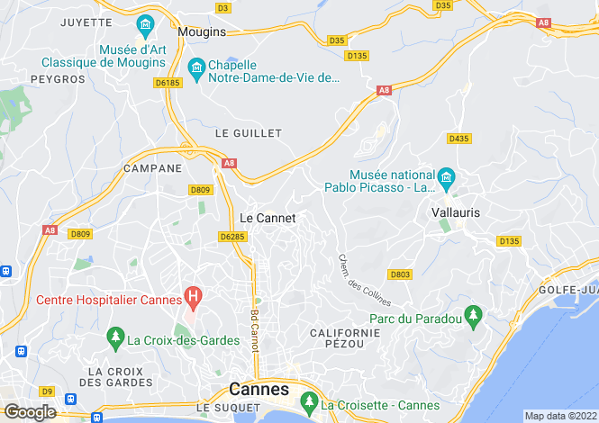 Map for Le Cannet (Les Collines), 06110, France