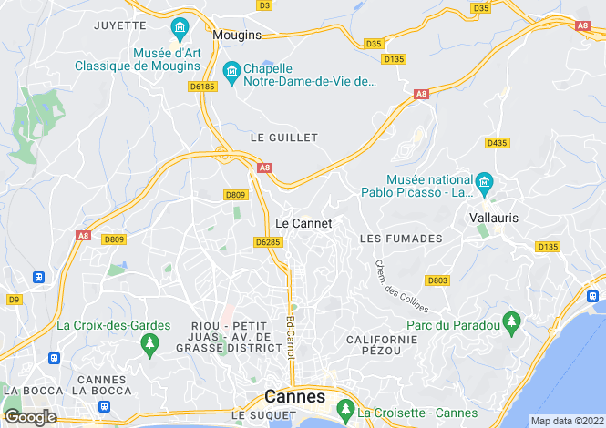 Map for Le Cannet, French Riviera