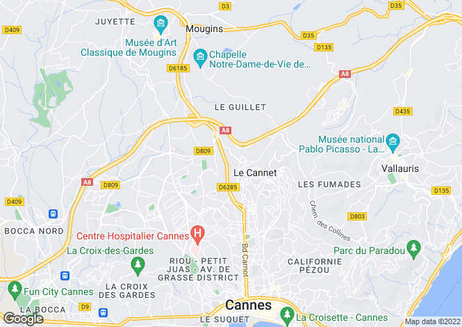 Map for Mougins, Provence-Alpes-Cote dAzur, France