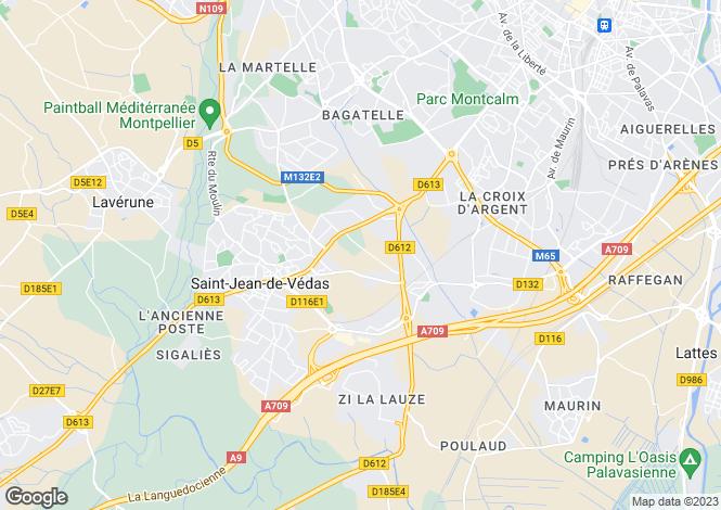 Map for ST JEAN DE VEDAS, Montpellier Area, Languedoc,