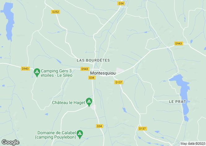 Map for Montesquiou, Midi-Pyrenees, 32320, France