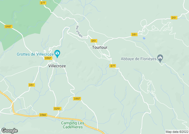 Map for tourtour, Var, France